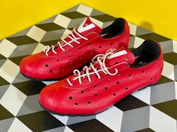Vittoria 1976 Italian Cycling Shoes Red Size 42.5  - Never W