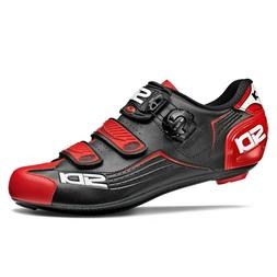 SIDI ALBA Road Cycling Shoes Bike Cleat Shoes Black/Red Size