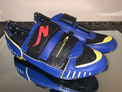 Specialized Comp Road Cycling Shoes 3 Bolt Blue Yellow Red S