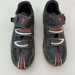 SPECIALIZED ELITE RD CYCLING SHOES BLACK RED AND SILVER ACCE