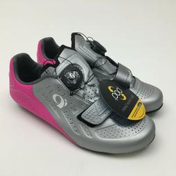 Pearl Izumi Elite Road V5 Cycling Shoes Pink SIlver Womens S