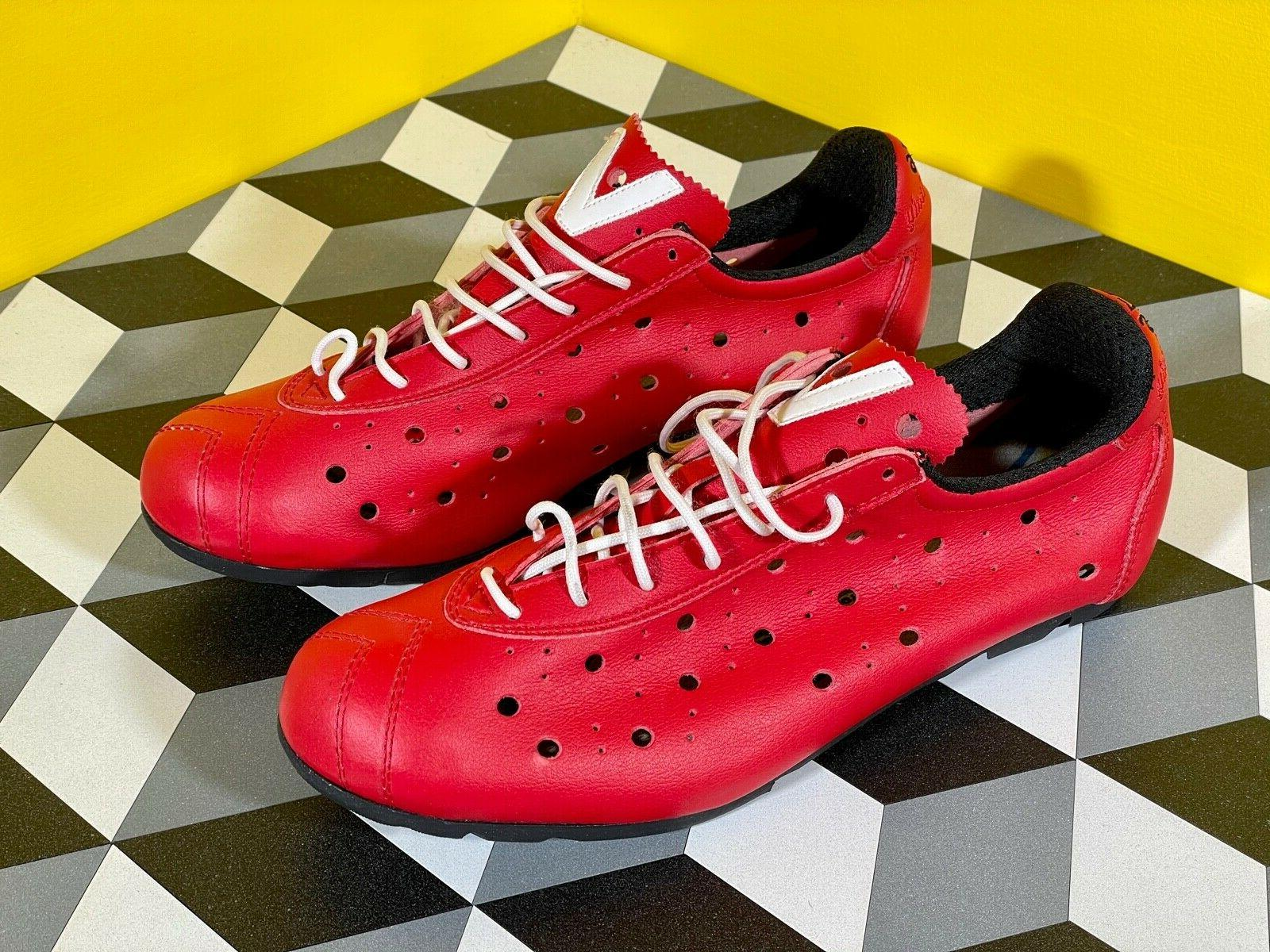 1976 italian cycling shoes red size 42