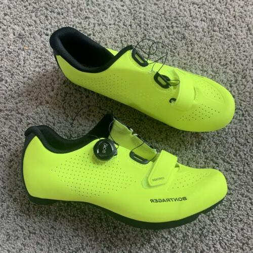 espresso boa road cycling shoes neon yellow