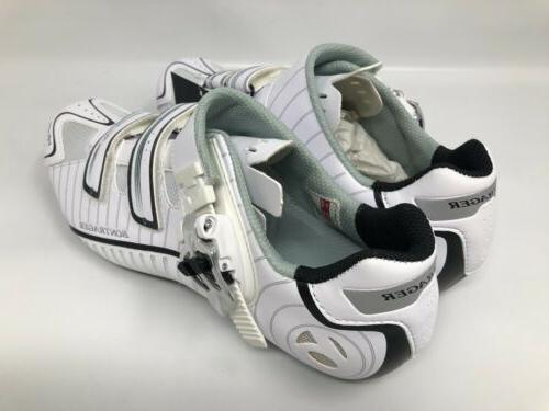 NEW EU 41 Women's White Carbon Cycling Shoes