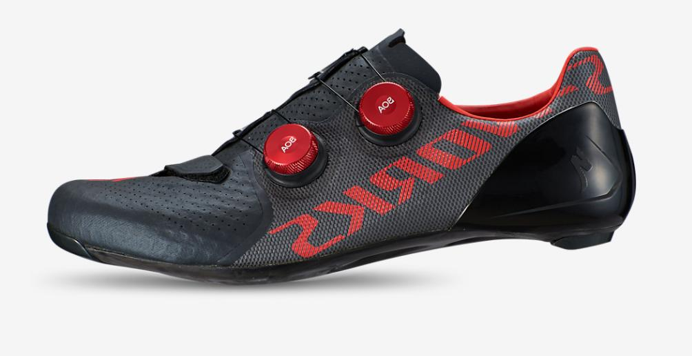 road shoes s works 7 black red