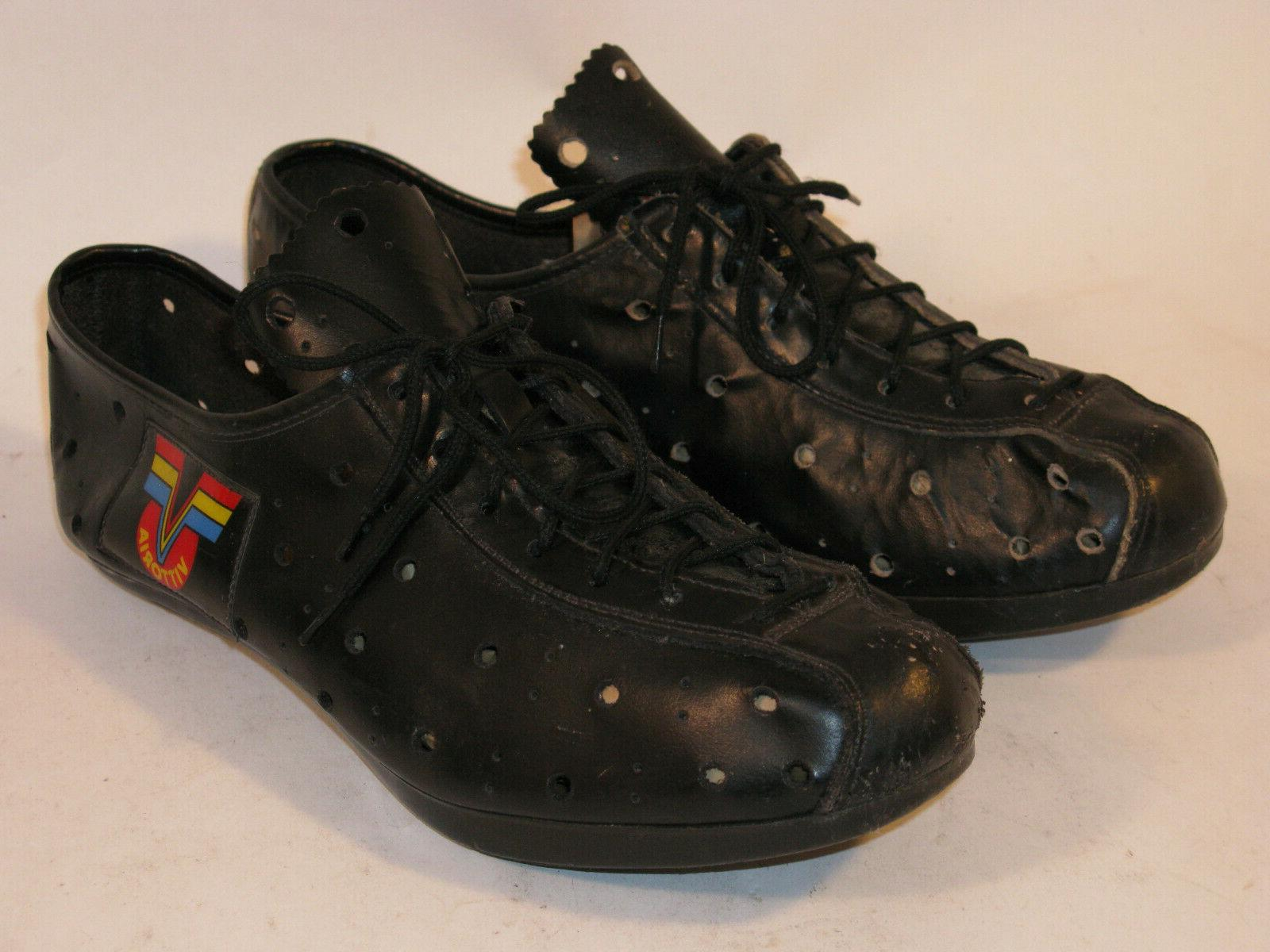 VINTAGE BLACK LEATHER CYCLING 41 IN