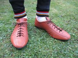 Leather cycling shoes vintage classic eroica retro style Tan
