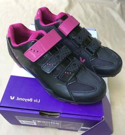 GIANT LIV  FERA Cycling Shoes black & fuchsia WOMENS size 7