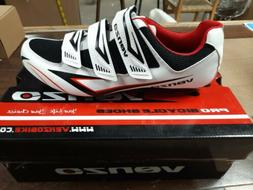 Venzo MX Men's Bicycle road Cycling  Shoes Size 9.5 US White
