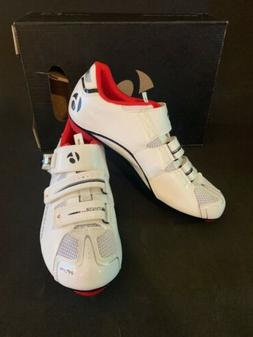 Bontrager Race DLX White/Black Road Cycling Shoes Men's Size