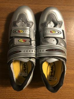 Northwave Road Cycling Bicycle Shoes Size 42 EU 9.5 USA Silv