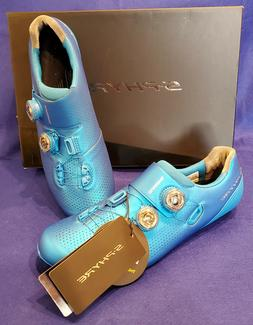 Shimano S-PHYRE RC-9 Men's Road Cycling Shoes Blue Size 46.5