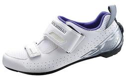 Shimano SH-TR5 Women's Triathlon Cycling Bike Shoes White TR