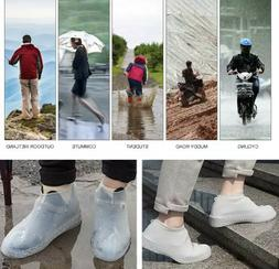 SILICONE OVERSHOES RAIN WATERPROOF SHOE COVERS BOOT COVER PR