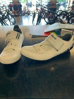 Shimano TR5 Road Cycling Shoes- White- 46