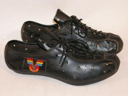 VINTAGE BLACK LEATHER VITTORIA CYCLING SHOES EU SIZE 41 MADE